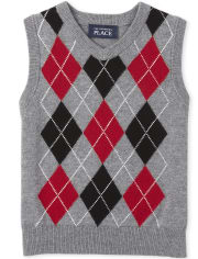 Baby And Toddler Boys Argyle Sweater Vest