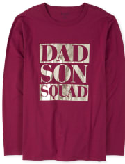 Mens Matching Family Foil Squad Graphic Tee