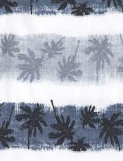 Boys Mix And Match Striped Palm Tree Tank Top