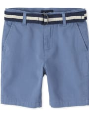Boys Belted Chino Shorts