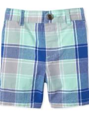 Baby And Toddler Boys Plaid Matching Chino Shorts
