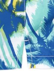 Troncos de natación con palmeras para bebés y niños pequeños