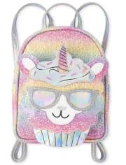 Girls Glitter Rainbow Llamacorn Mini Backpack