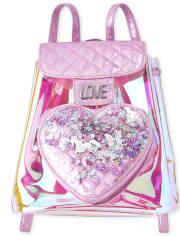 Girls Shakey Iridescent Mini Backpack
