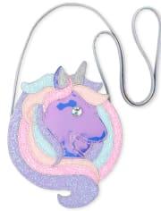 Girls Holographic Glitter Unicorn Bag