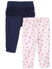 Baby Girls Cherry Leggings 2-Pack