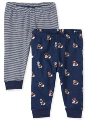 Baby Boys Dog Jogger Pants 2-Pack