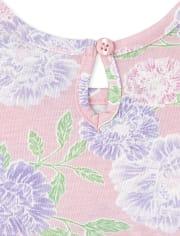 Baby Girls Floral Love 3-Piece Playwear Set