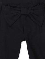 Baby Girls Bow Leggings 2-Pack