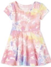 Baby And Toddler Girls Print Skater Dress
