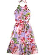 Womens Mommy And Me Floral Matching Halter Dress
