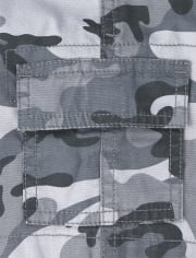 Baby And Toddler Boys Camo Pull On Cargo Shorts