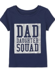 Baby And Toddler Girls Matching Family Foil Squad Graphic Tee