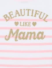 Baby And Toddler Girls Glitter Mama Matching Graphic Tee