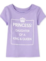 Baby And Toddler Girls Princess Graphic Tee