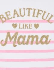 Girls Glitter Mama Matching Graphic Tee