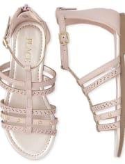 Girls Studded Gladiator Sandals