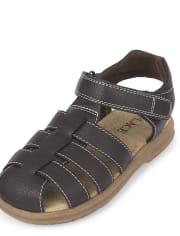 Boys Faux Leather Sandals