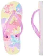 Girls Tie Dye Flip Flops