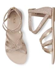 Girls Glitter Gladiator Sandals