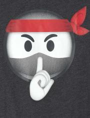 Boys Ninja Emoji Graphic Tee