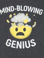 Boys Genius Emoji Graphic Tee
