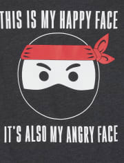 Boys Happy Ninja Graphic Tee