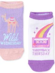 Girls Days Of The Week Unicorn Ankle Socks 7-Pack
