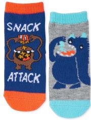 Toddler Boys Snack Monster Midi Socks 6-Pack