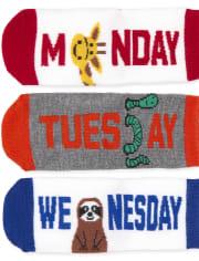 Toddler Boys Days Of The Week Animal Midi Socks 7-Pack