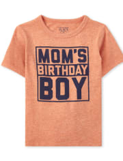 Baby And Toddler Boys Mom's Birthday Boy Graphic Tee