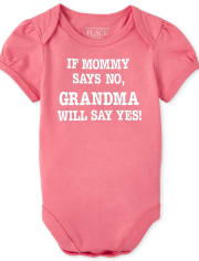 Baby Girls Glitter Mommy And Grandma Graphic Tee