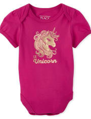 Baby Girls Mommy And Me Unicorn Matching Graphic Bodysuit