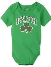 Unisex Baby Matching Family Shamrock Graphic Bodysuit