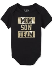 Baby Boys Matching Family Foil Team Graphic Bodysuit