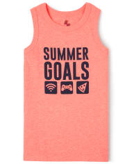 Boys Mix And Match Graphic Tank Top