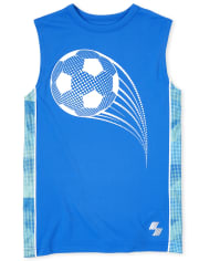 Boys Mix And Match Side Stripe Performance Muscle Tank Top