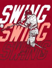 Boys Mix And Match Baseball Side Stripe Performance Tank Top