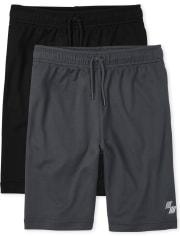 Boys Uniform Mesh Performance Basketball Shorts 2-Pack