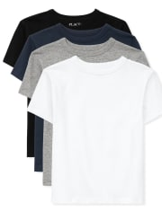 Boys Basic Layering Tee 4-Pack