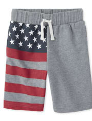 Boys Americana Flag French Terry Shorts