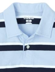 Boys Uniform Striped Jersey Polo