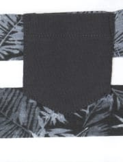 Boys Mix And Match Striped Palm Pocket Tank Top