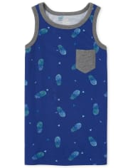 Boys Mix And Match Pineapple Pocket Tank Top