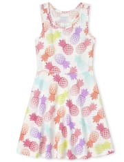 Girls Print Racerback Dress