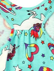 Girls Print Racerback Dress