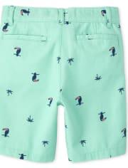 Boys Print Chino Shorts