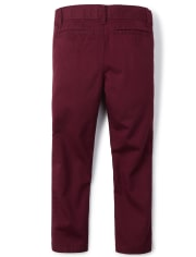 Boys Uniform Stretch Skinny Chino Pants
