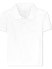 Boys Uniform Stain Resistant Stretch Pique Polo