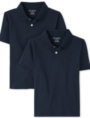 Pack de 2 polos de jersey suave de uniforme para niños